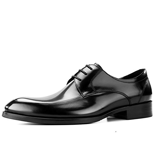 Mens Leather Casual Shoes Dress Tuxedo Business Hochzeit Mode Rutschen Schwarzbraun C