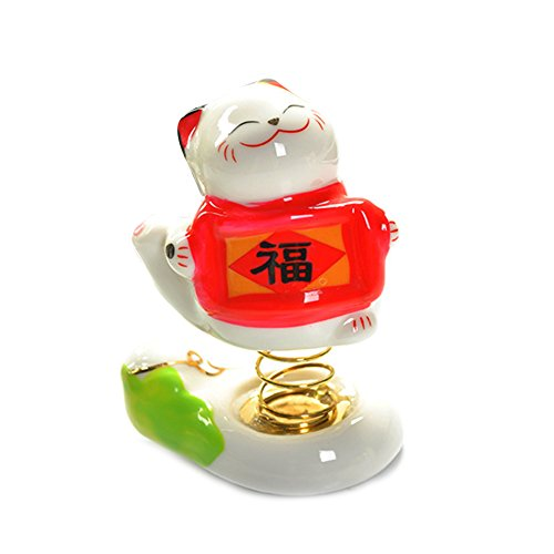 Car Interior Fittings Dashboard Lucky Cat Shake Hand Car Ornament style 2