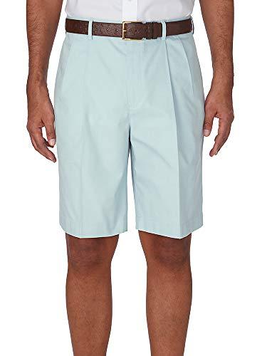 Paul Fredrick Men's Non-Iron Supima Cotton Solid Pleated Shorts Spearmint 50