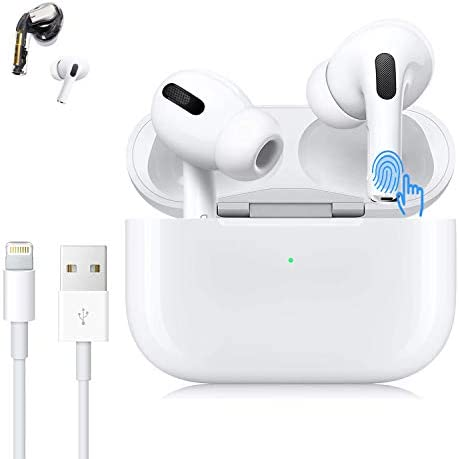 Wireless Earbuds Bluetooth 5.0 in-Ear Headphone IPX5 Waterproof and Noise-Canceling Wireless Earphones with Charging Case 24 Hours Battery Life, Suitable for iPhone/Android Airpods Pro