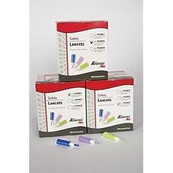 Pro Advantage P929021 Safety Lancet, 21G, Normal Flow, 1.8 mm Depth, Blue (Pack of 200)