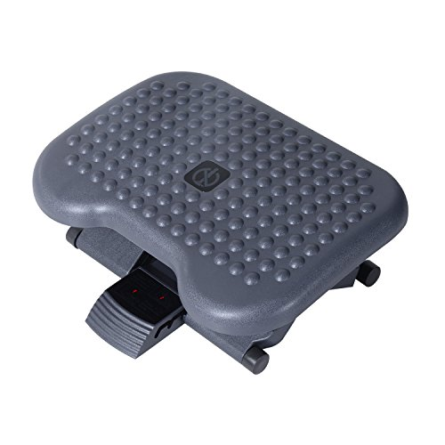HOMCOM 3 Position Height Adjustable Tilting Footrest - Black by HOMCOM