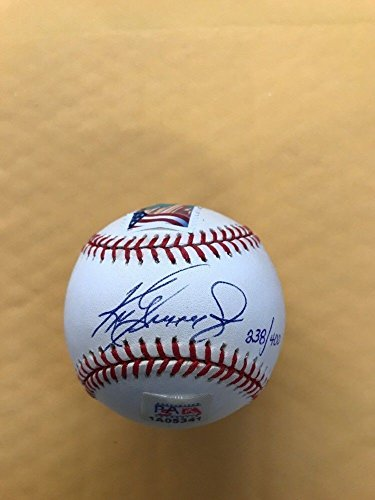 quality design c9405 84b40 Ken Griffey Jr. Autographed Signed Baseball 400 Career Home ...