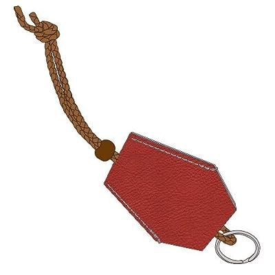 (Kit de pratique de couture à la main) tannin tanné peau de vache tendre (étui à clés) # 10 .. Rouge