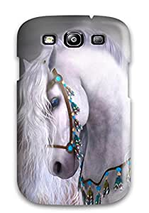 Cute High Quality Galaxy S3 Horses Fast Art Running Desktop Draft Horse Animal War Horse Case