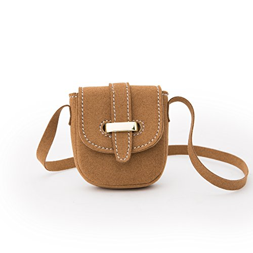 Maplelea Savvy Saddlebag Purse for 18 inch Dolls - Beautiful Leather-Like Fabric, Detailed Design