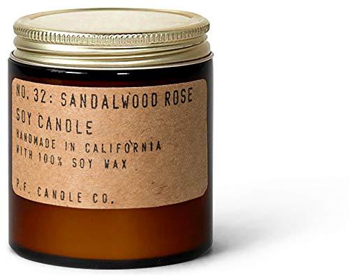 P.F. Candle Co... - No. 32: Sandalwood Rose Soy Candle (3.5 oz Mini)