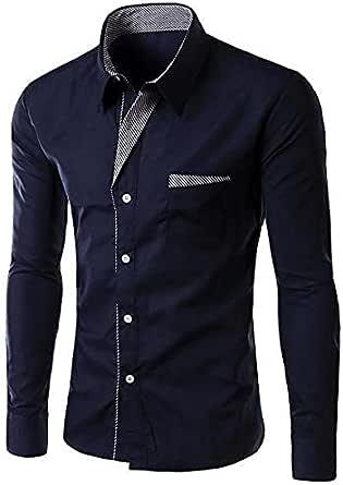 Navy Shirt Neck Shirts For Men , 2724595222187