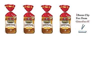 Canyon Bakehouse GlutenFree Heritage Style Honey White Bread 24oz(Pack of 4) + 1 Bonus Clip from Glutenfree4U