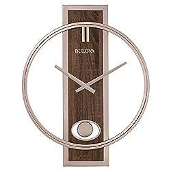 Bulova C4117 Phoenix Wall Clock, Champagne
