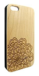 Genuine Maple Wood Organic Abstract Geometric Flower Snap-On Cover Hard Case for iPhone 5C by lolosakes