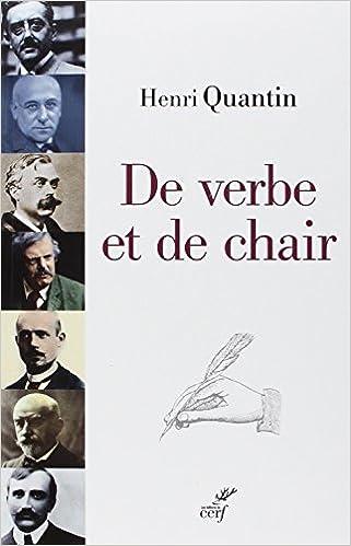 Livre gratuits en ligne De verbe et de chair : Péguy, Bloy, Bernanos pdf, epub