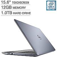 2018 Dell Inspiron 15 5000 Flagship 15.6 inch Full HD Touchscreen Backlit Keyboard Laptop PC, Intel Core i5-8250U Quad-Core, 12GB DDR4, 1TB HDD, DVD RW, Bluetooth, WI-FI, Win 10, Blue