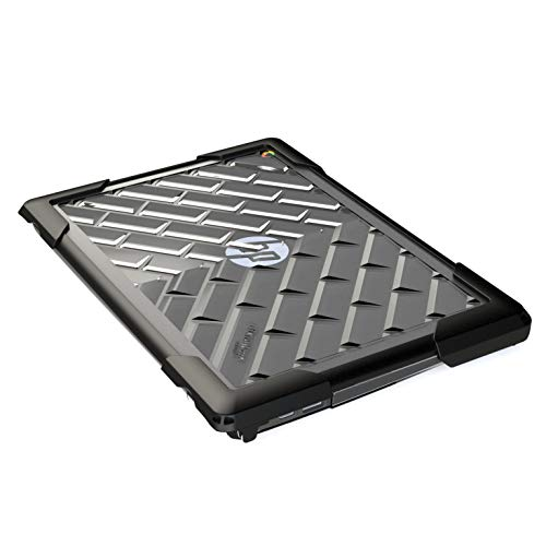 Gumdrop BumpTech Case Designed for HP 11 G6 Chromebook Laptop for K-12 Students, Teachers, Kids - Black, Rugged, Shock Absorbing, Extreme Drop Protection
