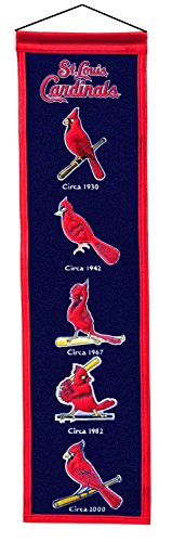 St. Louis Cardinals Officially Licensed 8x32 Embroidered Wool MLB Heritage (Mlb Licensed Banners)