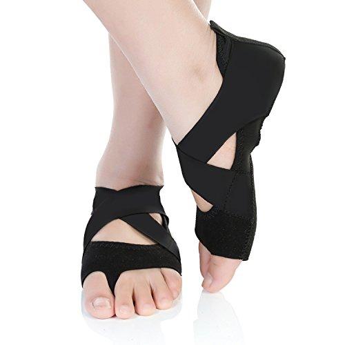 Barerun Women's Ballerina Shoes Half Toe Grip Non-Slip for Ballet Yoga Pilates Barre (6.5-7.5 B(M) US, Black) by Barerun