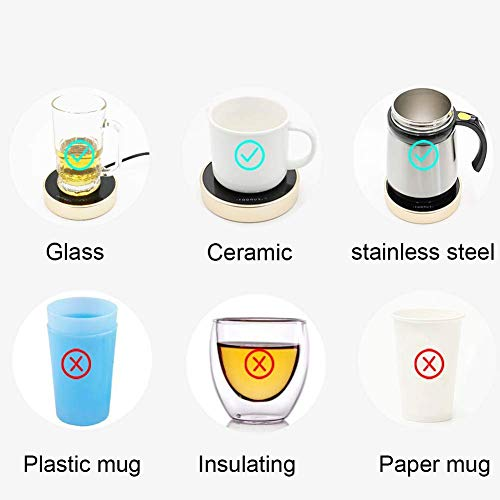 Asmwo 4.5inch coffee tea mug warmer for Milk Tea Coffee Cocoa Beverage two Adjustable Temperature Teapot Warmer Best Gift mugs warmer for women men grandma by Asmwo (Image #5)