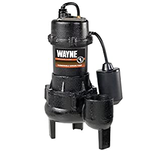 WAYNE RPP50 Cast Iron Sewage Pump With Piggy Back Tether Float Switch