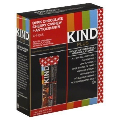 Kinder Chocolate Chips - Kind Bar Dark Chocolate Cherry Cashew 4 count 5.6 ounce pack of 2
