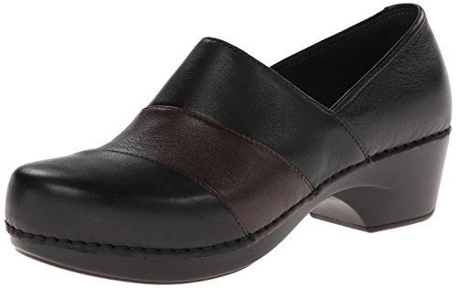 Dansko Women's Tenley Dress Pump,Black/Brown Nappa,38 EU/7.5-8 M US ()
