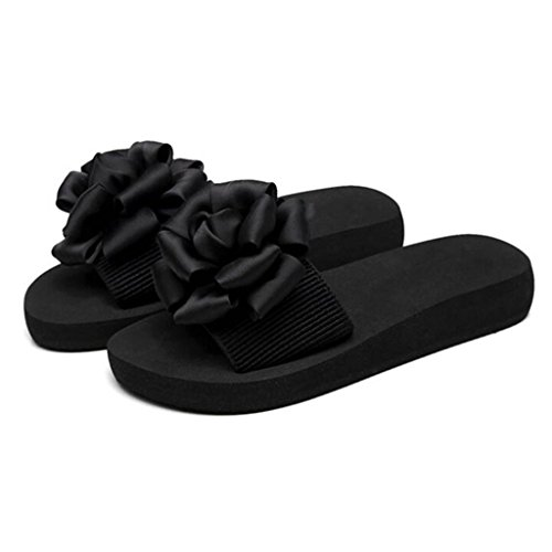 Flat Black Slip MuMa Tamaño Beach CN37 Color EU37 Mujeres Sandalias Word Chanclas Slip Summer Zapatillas y Sandals Thick 5 Shoes Black Sandalias 5 UK4 qWr7gTqvnB