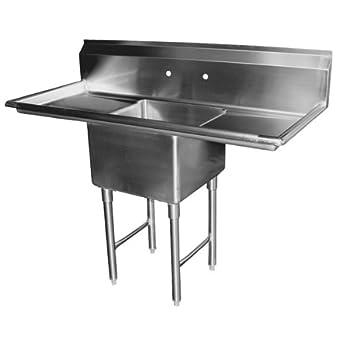 Amazon.com: allstrong 1 compartimento fregadero de acero ...