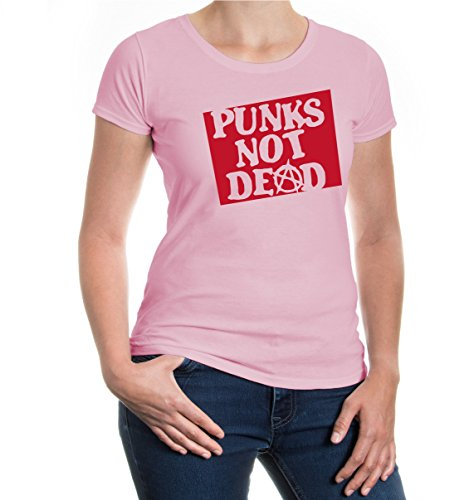 Girlie T-Shirt Punks not dead Lightpink