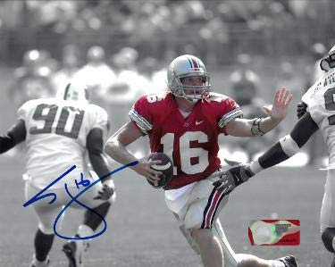 Autographed Craig Krenzel (Chicago Bears) Photo - Ohio State Buckeyes Spotlight 8x10#16 - Autographed NFL Photos