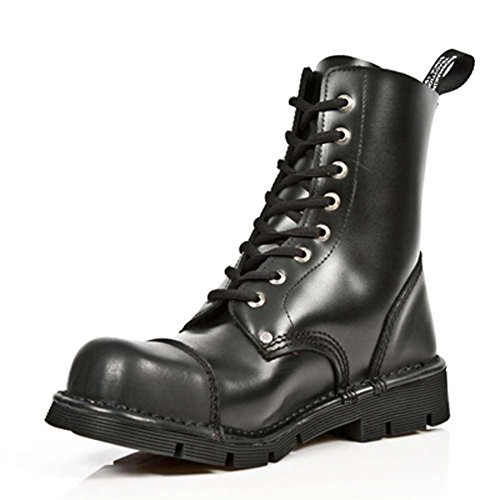 New Rock M.NEWMILI083-V1 NewMili Männer schwarze Lederstiefel (46 EU, Schwarz)