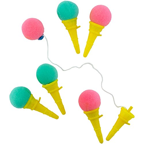 Mini Ice Cream Shooter Assortment - (36) Pieces - Assorted Colors - For Kids, Boys and Girls, Party Favors, Pinata Stuffers, Children's Gift Bags, Carnival Prizes (Ice Bag Mini Cream)
