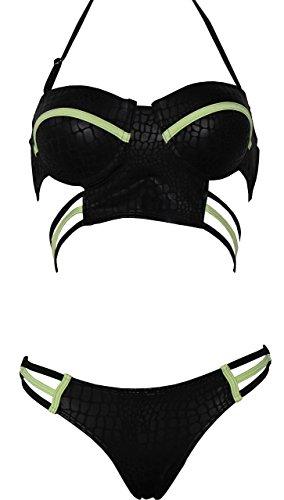 Starepe - Bikini para Mujer #0258_Negro