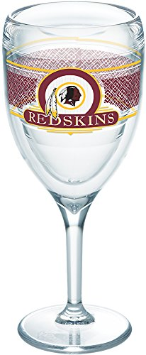 Tervis 1227770 NFL Washington Redskins Select Tumbler with Wrap 9oz Wine Glass, Clear
