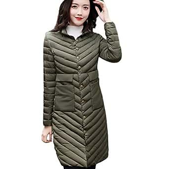 Gaorui Lightweight Women Winter Jackat Warm Long Coat Slim