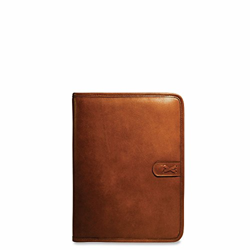 Jack Georges Belmont Letter Size Writing Pad Cognac by Jack Georges