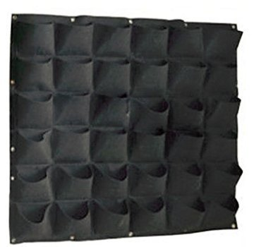 Active Gear Guy Vertical Hanging Wall Planter with 36 Roomy Pockets for Herbs Or Flowers. Great Addition to Your Outdoor Garden and Patio Areas. by Active Gear Guy