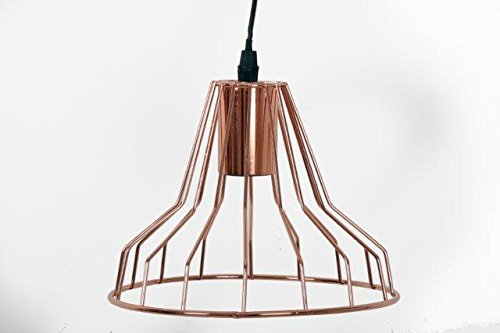 Copper wire lampshade wire center copper wire retro pendant ceiling lamp amazon co uk lighting rh amazon co uk punched copper lamp shade how to make copper wire lampshade keyboard keysfo Image collections