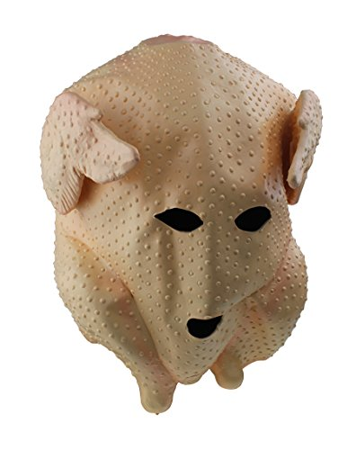 Turkey Chicken Head Mask Halloween Novelty Deluxe Mask Cosplay Latex Cock Mask