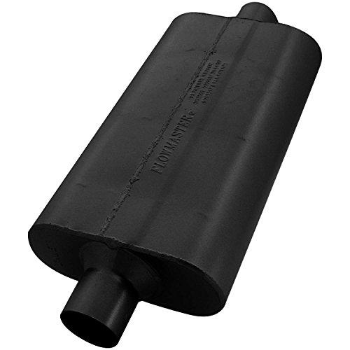 (Flowmaster 942550 50 Delta Flow Muffler - 2.50 Center IN / 2.50 Center OUT - Moderate Sound)