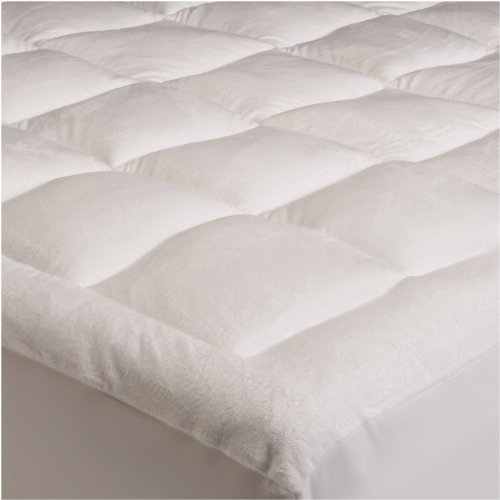 Mezzati Pillowtop Quilted Mattress Topper - with Fitted Skirt, Down Alternative Filling, Super Soft, Extra Plush with Deep Pockets - Full