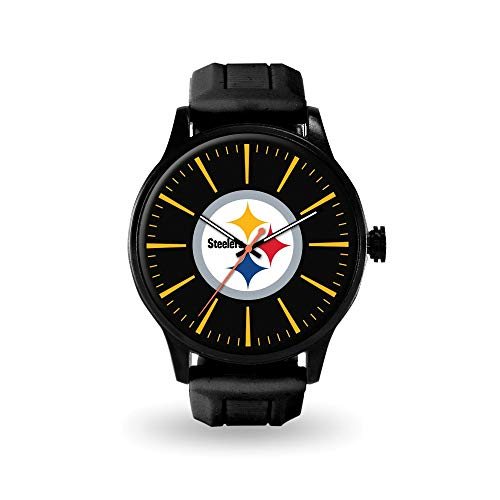 Q Gold Gifts Watches NFL Pittsburgh Steelers Cheer Watch by Rico ()