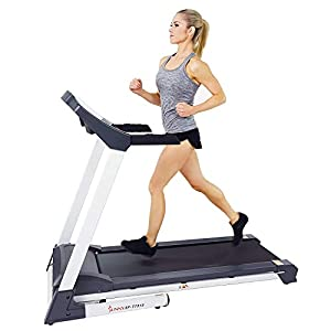 Sunny Health & Fitness SF-T7515 Smart Treadmill with Auto Incline, Speakers, Bluetooth, LCD and Pulse Monitor, Phone…