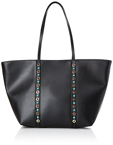 PIECES Pcnanette Shopper - Borse a spalla Donna, Schwarz (Black), 13x34x43 cm (B x H T)