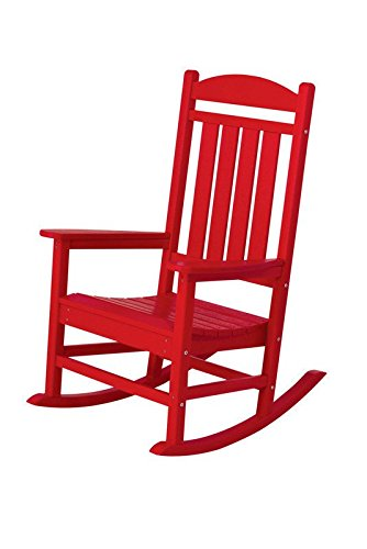 Beau POLYWOOD R100SR Presidential Outdoor Rocking Chair, Sunset Red