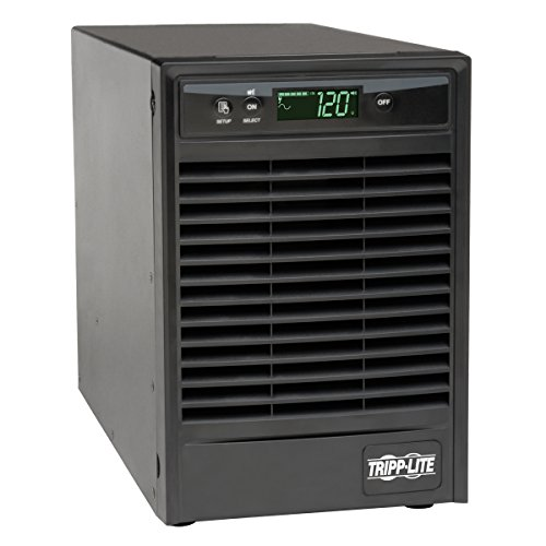 Tripp Lite SmartOnline 120V 1kVA 900W Double-Conversion UPS, Tower, Extended Run, Network Card Options, LCD, USB, DB9 Serial (SU1000XLCD)