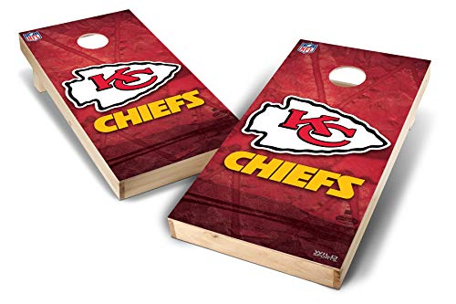 PROLINE NFL Kansas City Chiefs 2'x4' Cornhole Board Set - Wild Design