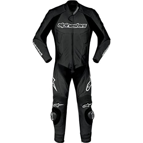 Amazon.com: Alpinestars Carver One Piece Suit piel Negro EU ...
