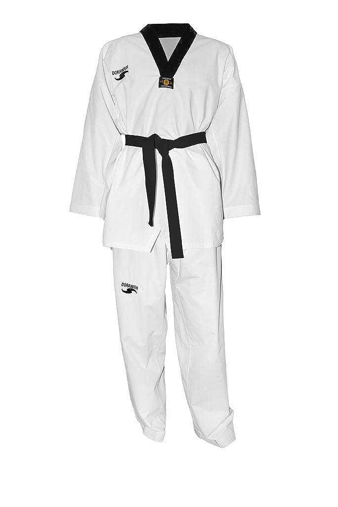 Dorawon - Dobok Uniforme de Taekwondo, Color Negro: Amazon.es ...