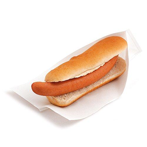 Garcia de Pou 100unità aperto confezione borsa per bocconcini, Hot Dogs, 35g/m², in scatola, 25x 13/10cm, carta, bianco, 25x 10x 30cm Garcia de Pou_173.85