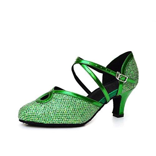Schwarz Damen Tanzschuhe Grün misu schwarz xCfB8q8w