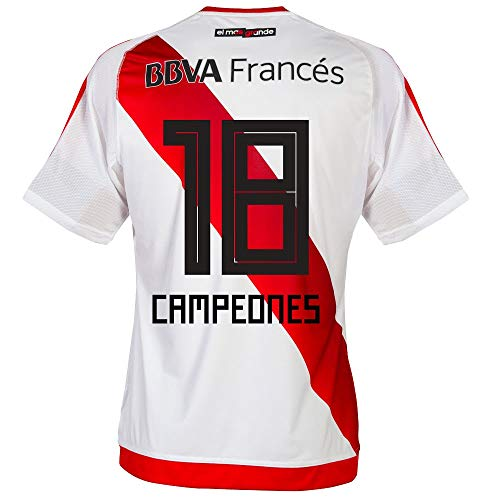 adidas River Plate Home Campeones 18 Jersey 2016/2017 (Fan Style Printing) - M